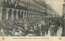 PARIS  ARRIVEE DES AMERICAINS RUE DE RIVOLI - Zonder Classificatie
