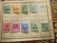 Timbres Europe Grande-Bretagne(ex-colonie  & Protectorat ) Ceylan-Jamaïque-Bahamas-Montserrat-St Ritts-Nevis - Ceilán (...-1947)