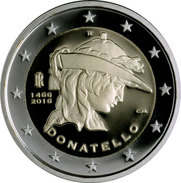 "ITALIA  2€  2.016  2016  BIMETALICA  SC/UNC   ""DONATELLO""   T-DL-11.977 - Italy"