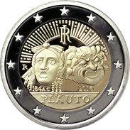 """ITALIA  2€  2.016  2016  BIMETALICA  SC/UNC   """"PLAUTO""""   T-DL-11.978 - Italia"""