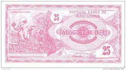 Macedonia - Pick 2 - 25 Denar 1992 - Unc - Macédoine