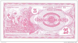 Macedonia - Pick 2 - 25 Denar 1992 - Unc - Macedonia