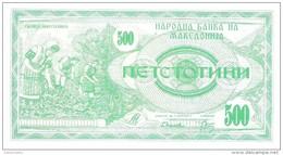Macedonia - Pick 5 - 500 Denar 1992 - Unc - Macedonia
