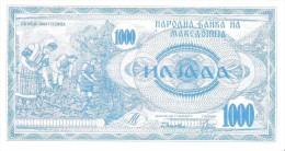 Macedonia - Pick 6 - 1000 Denar 1992 - Unc - Macédoine