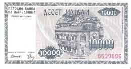 Macedonia - Pick 8 - 10.000 Denar 1992 - Unc - Macédoine