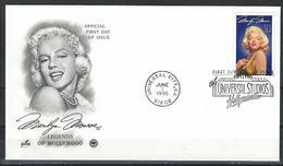 USA. Scott # 2967 FDC. Legend Of Hollywood Marilyn Monroe. 1995 - FDC