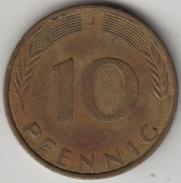 @Y@    Duitsland  10 Pfennig  1971      (4336) - 10 Pfennig