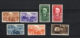 ETIOPIA 1936 EFFIGIE VITTORIO EMANUELE III SERIE CPL. * LNH - Ethiopia