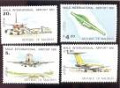 MALDIVES ; MINT N.H. STAMPS ; SCOTT # 924-7 ;  IGPC 1981 ( AVIATION - Maldivas (1965-...)