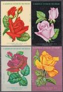 POLAND 1966 Matchbox Label - Cat.G#152/55 Set - ROSES. - Boites D'allumettes - Etiquettes