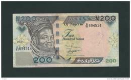Banconota Da  200  NAIRA  NIGERIA  -  Anno 2000. - Nigeria