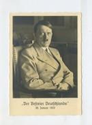 1939 3.Reich Photo Hoffmann Propagandakarte Adolf Hitler Der Befreier Deutschlands Photo Hoffmann MI 700 EF - Storia Postale
