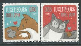 Luxemburg, Yv 1970-71  Jaar 2014, Kerstmis, Toeslag, Reeks, Postfris (MNH) Zie Scan