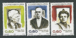 Luxemburg, Yv 1956-58  Jaar 2014, Bekende Personen, Reeks, Postfris (MNH) Zie Scan