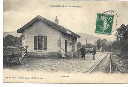 70 PLANCHER-BAS . La Gare Du Tacot Animée , édition : Ad Weick , écrite En 1908 ,état Extra - Autres Communes