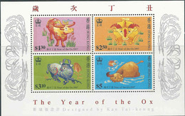 Hong Kong , Yv  Blok  Jaar 1997, Year Of The Ox,  Postfris (MNH) Zie Scan - 1997-... Région Administrative Chinoise