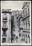 Caltagirone - Scala S.M. Del Monte, Cartolina Anni 50 Animata Viaggiata - Catania