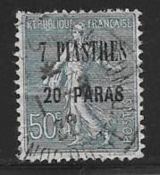 France,Offices In Levant,scott # 46 Used France Stamp Surcharged, 1921-2, Corner Defect - Levant (1885-1946)
