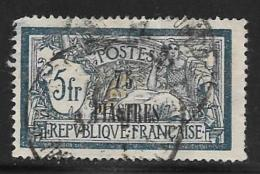 France,Offices In Levant,scott # 49 Used France Stamp Surcharged, 1921-2, Thin - Levant (1885-1946)