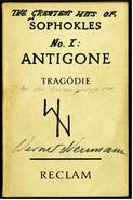 Reclam Heft  -  Antigone Tragödie  -  Von Sophokles  -  1966 - Theater & Drehbücher