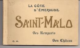 CPA Album Carnet Collection 18 Cartes Postales Saint Malo Ses Remparts Son Château Côte D'Émeraude Éditeur Guérin 1930 - Saint Malo