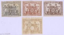 1877  POLIZAS   2 Nuevos* ,  2 Usados - Fiscales
