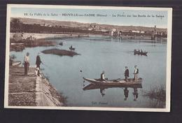 CPA 69 - NEUVILLE-sur-SAONE - La Pêche Sur Les Bords De La Saône - TB PLAN Pêcheurs à La Ligne - Neuville Sur Saone