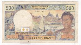 """Polynésie Française - 500 FCFP - Mention """"PAPEETE"""" Au Verso - V.2 / Roland-Billecart / Lefort - Papeete (Polynésie Française 1914-1985)"""