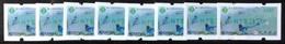 Set Of 8 Green Imprint Taiwan ATM Frama -PHILATAIPEI 2016 World Stamp Exhi. - Blue Magpie Bird Unusual