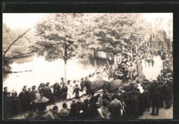 Foto-AK Alkmaar, Schotersingel, Koninginendag 1929, Pferdegespann Im Festzug, Schönheitskönigin - Alkmaar