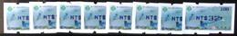 Set Of 8 Blue Imprint Taiwan ATM Frama -PHILATAIPEI 2016 World Stamp Exhi. - Blue Magpie Bird Unusual