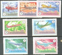 AFGHANISTAN:AIRPLANES,TRANSPORTATION,AIRCRAFT,AVIATION,1090-96,1984,MNH - Afghanistan