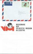 Lesotho Letter Via Germany.MISSIONARE DER VELBERTER MISSION IN LESOTHO.motive Stamp - Birds - Lesotho (1966-...)