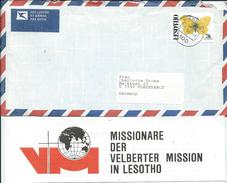Lesotho Letter Via Germany.MISSIONARE DER VELBERTER MISSION IN LESOTHO.motive Stamp - Butterflies - Lesotho (1966-...)