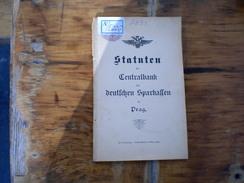 Statuten Der Centralbank Der Deutschen Sparkassen In Prag 40 Pages - Bücher, Zeitschriften, Comics