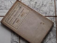 Carte TARIDE Routière N° 18 La France LANGUEDOC ( Ouest ) Imp. Gaillac ( Oudere 2de Hands Kaart Op Katoen / Cotton ) ! - Europe