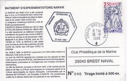 Marine Nationale, A769, NARVIK, Batiment D'experimentation, 1988,90/500 ( MN48.1) - Naval Post