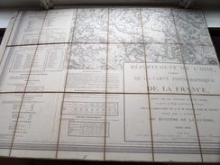 Carte Topografique GISORS La France ( Oudere 2de Hands Kaart Op Katoen / Cotton ) ! - Europa
