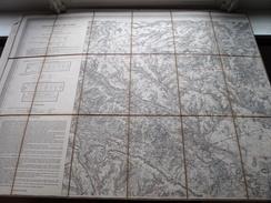 Carte Topografique BEAUVAIS Dép. De L'Oise La France ( Oudere 2de Hands Kaart Op Katoen / Cotton ) ! - Europe