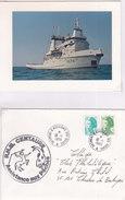Marine Nationale, A674, CENTAURE, Remorqueur De Haute-mer,ASSISTANCE AUX PECHES, 1989,+ CARTE ( MN53.1) - Postmark Collection (Covers)