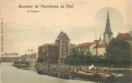 E-16-3533 : MARCHIENNE AU PONT. SOUVENIR.  PENICHE. VOIE NAVIGABLE. - France