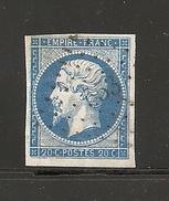 N° 14, 20 Cts Bleu, PC 553, Brusque, Aveyron - 1849-1876: Période Classique