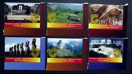 UNO-Genf 577/82 **/mnh, UNESCO-Welterbe: Südamerika,  Nationalpark Iguaçu, Galapagos-Inseln, Osterinsel, De Las Manos - Geneva - United Nations Office