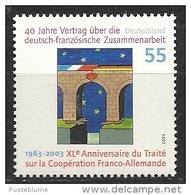 Deutschland / Germany / Allemagne 2003 2311 ** 40 J. Vertrag Deutsch-französische Zusammenarbeit - Nuovi