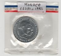 Monaco_  100FR  éssais_ 1982 Monnaie De Paris (sous Blister ) - Munten & Bankbiljetten