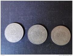 Afrique De L'ouest : 3 Pièces De 100 Fr 1967 Et 1969 - Monnaies