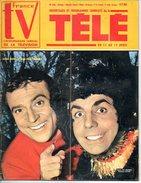 TV France N° 106 Avril 1964;  R Pierre Et JM Thibault; Père De Nounours; Jean Ferrat Poster; TV Couleur 2p; Cuisine Mode - Cine / Televisión