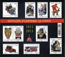 France, Feuillet N° 4582 Xx (timbre N° 4582 à 4591, Année 2011) - Blocs & Feuillets