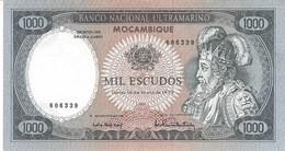MOZAMBIQUE 1000 ESCUDOS 1972 P-112a AU/UNC WITHOUT PREFIX S/N 606339 RARE [MZ112a] - Mozambique