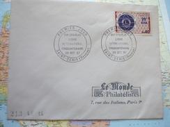 FDC Lions International Cinquantenaire 29/10/1967 St Denis - Lettres & Documents
